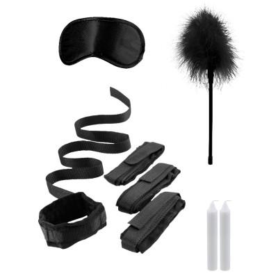 Черный игровой набор БДСМ Bed Bindings Restraint Kit